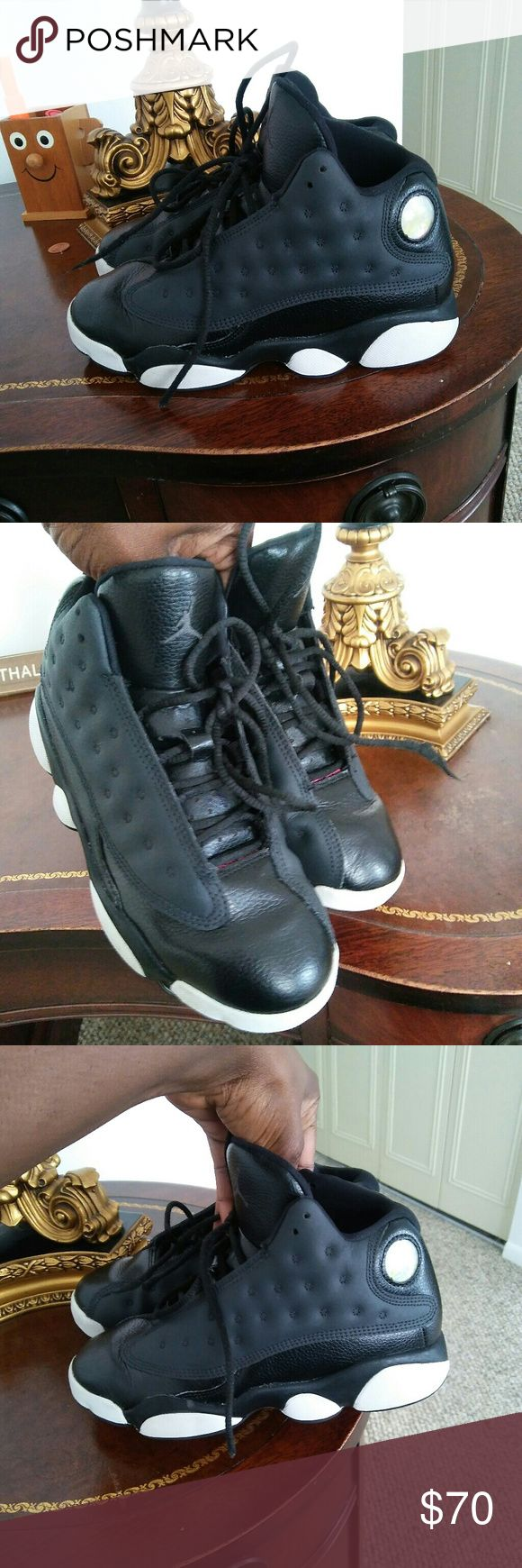 Kids Jordan's 23 This Jordan is in great condition was gentle wear a few time black and white hot pink in the bottom size 2 and a half perfect for school Jordan's 23 Shoes Sneakers