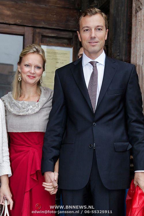 ITA/Parma/20120929- Doop prinses Luisa Irene, prinses Carolina en partner Albert Brenninkmeijer