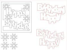square birthday card on the robo