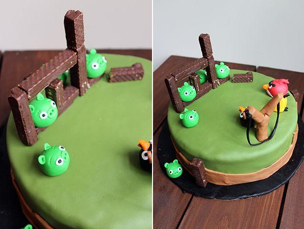 Mi Diario de Cocina | Torta de Angry Birds | http://www.midiariodecocina.com