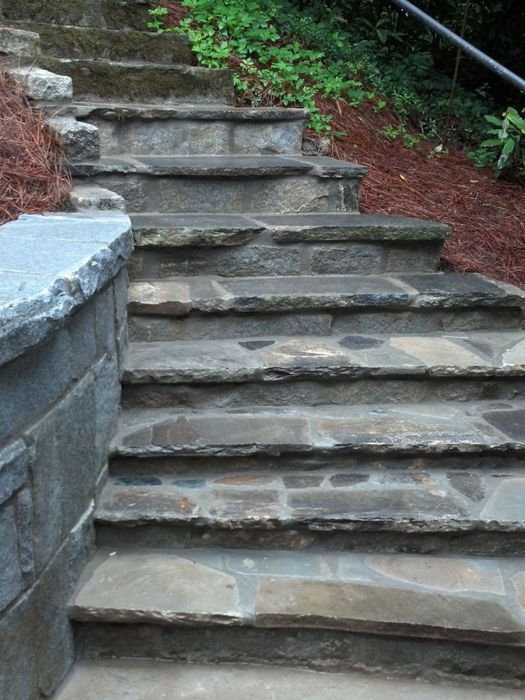mortared stone w rough edge finish garden steps pinterest stones fields and search. Black Bedroom Furniture Sets. Home Design Ideas