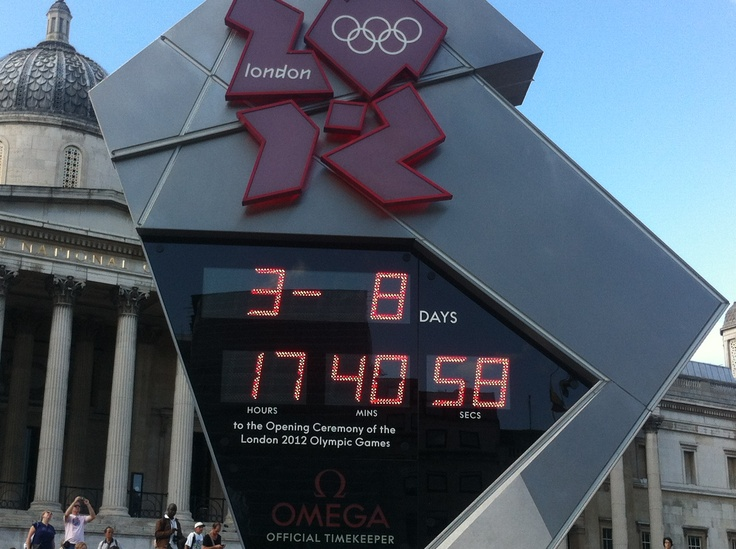 Olympic clock during the games