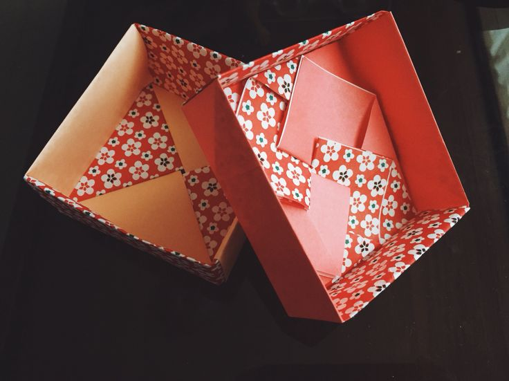 Simple fused origami box with lid