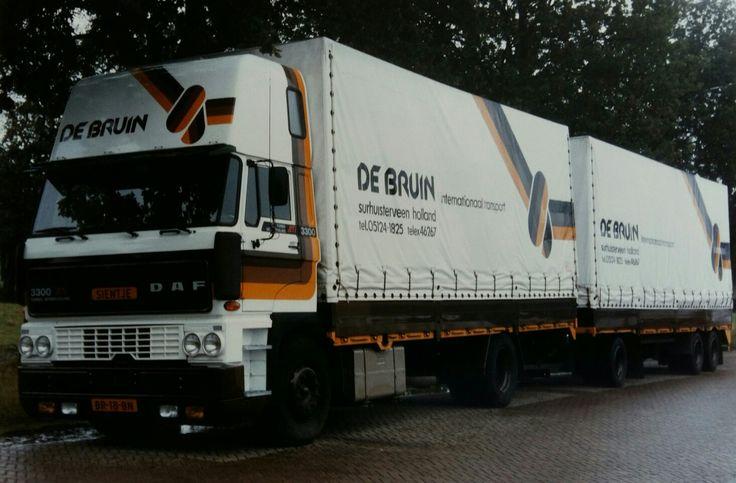 DAF FA 2800 Ati 4x2 topsleeper met volume huifaanhanger van De Bruin in Surhuisterveen