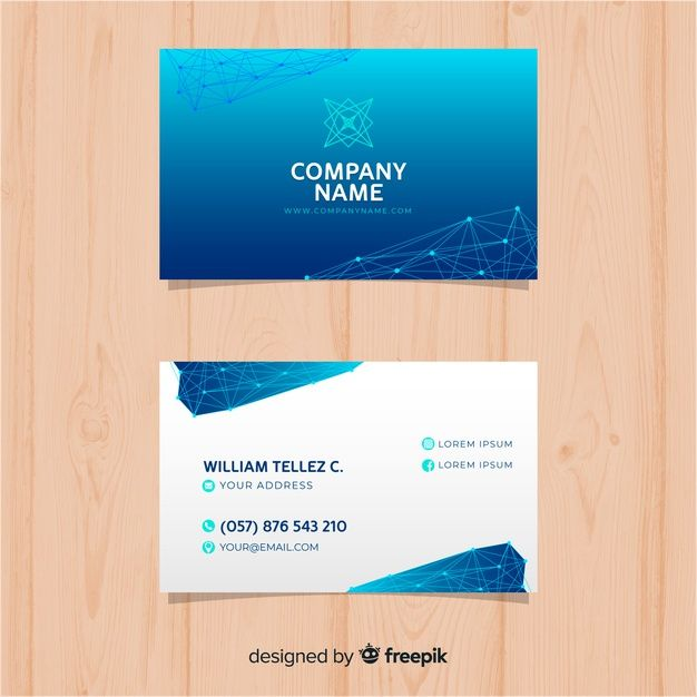 Download Technology Business Card Template For Free Business Card Template Free Business Card Templates Card Template