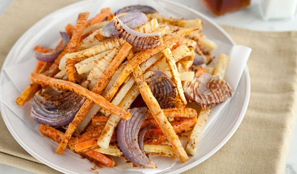 Put these oven-baked vegetable fries on table and they will disappear fast!