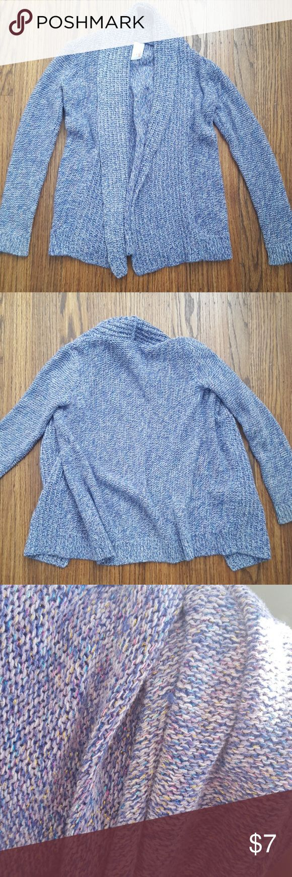 Girls Sparkly Lavender Open Shawl Cardigan 6 6x Metallic colored yarns threaded through gives this cozy lavender cardi a cute sparkle effect. Cotton blend. Good preowned condition. Light wear to sleeve cuffs. cat & jack Shirts & Tops Sweaters