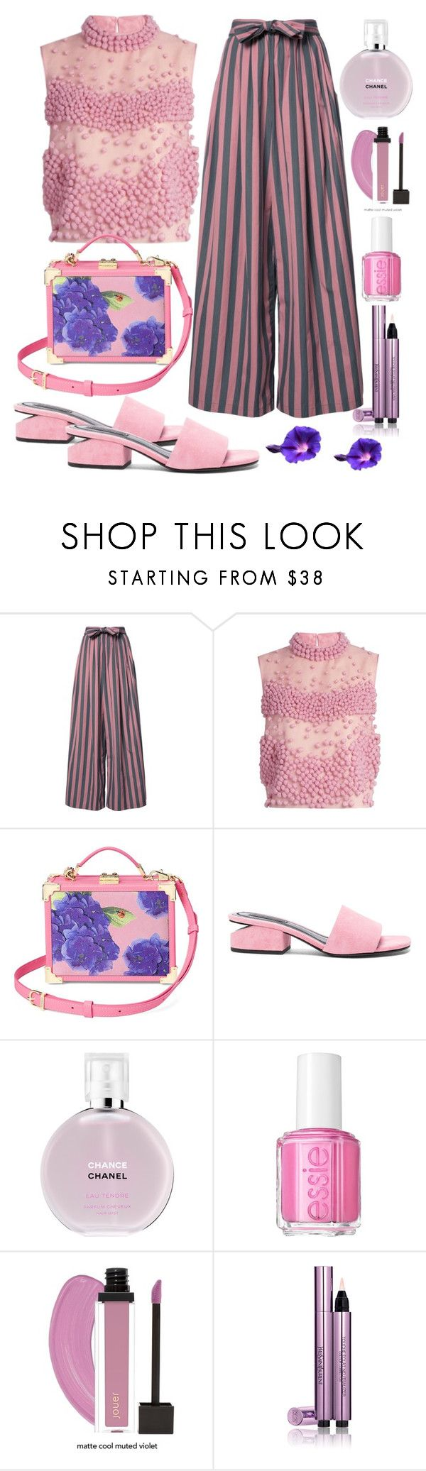 """""""Don't dream it's over"""" by xmoonagedaydreamx ❤ liked on Polyvore featuring Tome, Roksanda, Aspinal of London, Alexander Wang, Chanel, Essie, Yves Saint Laurent, Pink, purple and sweet"""
