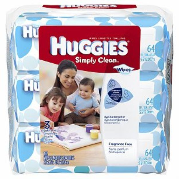 I'm learning all about Huggies Simply Clean Baby Wipes 3 Soft Packs Fragrance Free Ea at @Influenster!