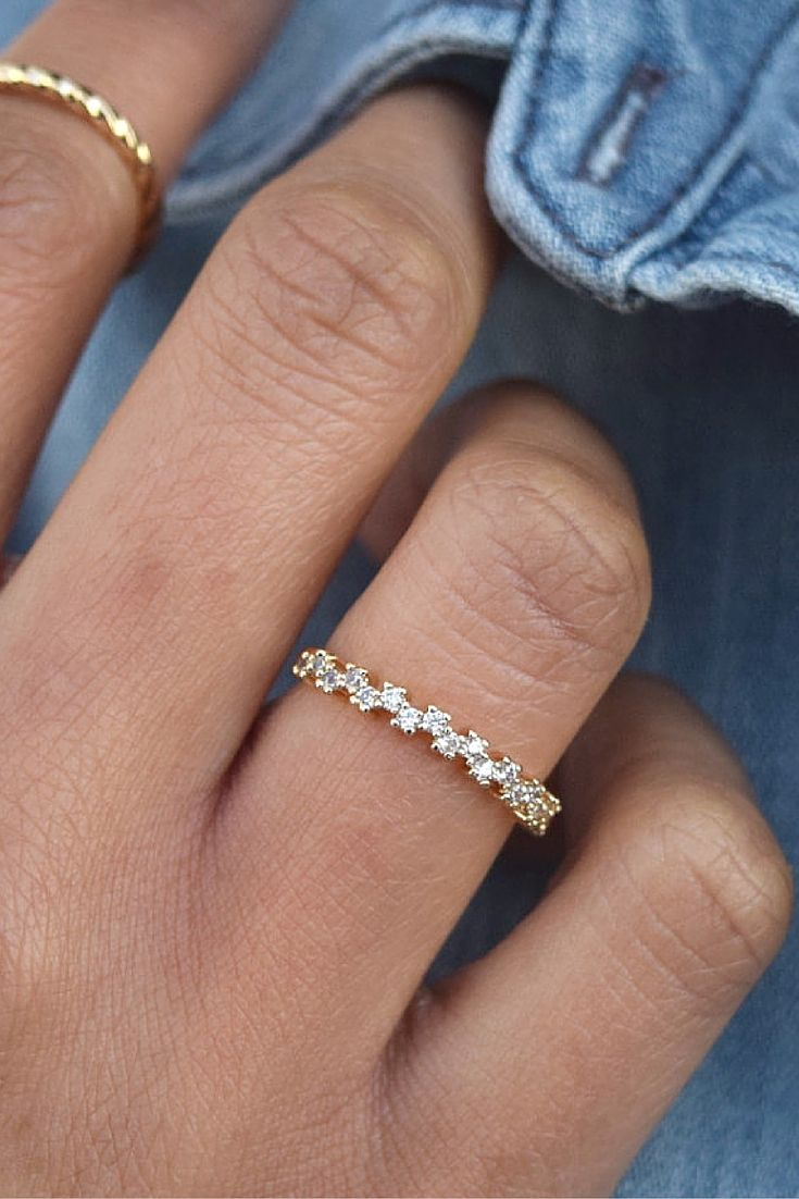 Add A Little Sparkle To Your Look With Our Ever After Ring Delicate Ring  Covered
