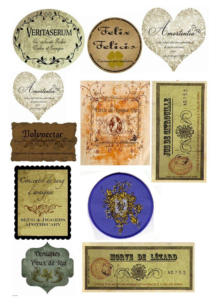 étiquette potion magique - Recherche Google