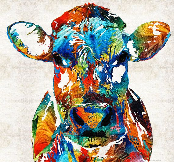 ... images about Colorful Cows on Pinterest | A cow, Cow print and The cow