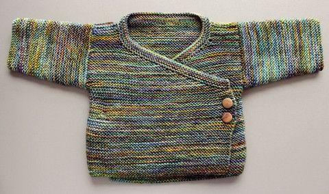 Free Pattern Friday: Garter Stitch Baby Kimono – ImagiKnit