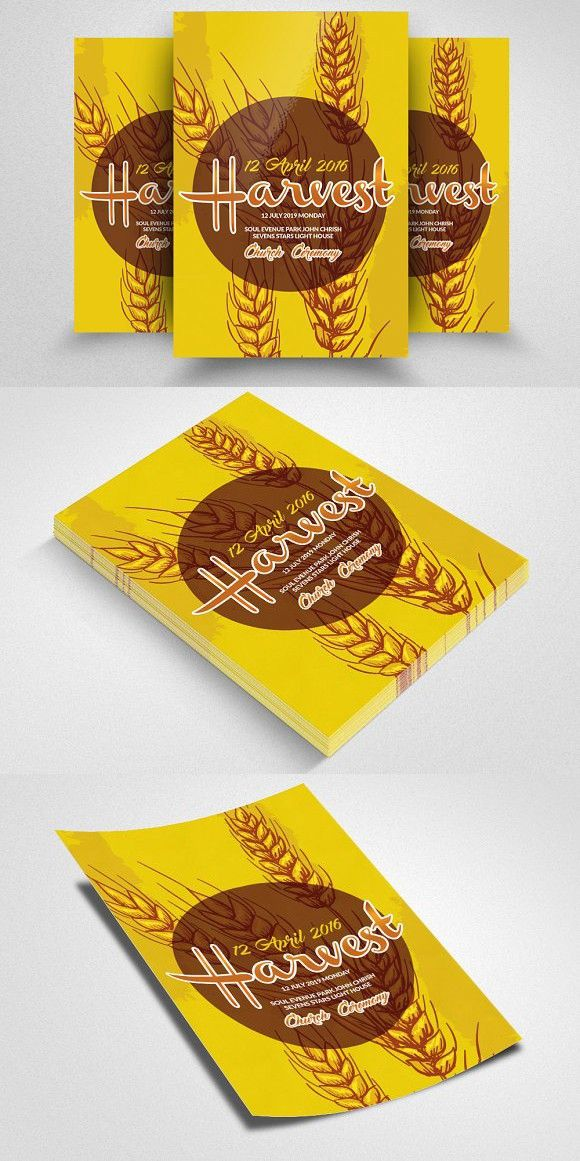 Harvest Church Flyer Template. Wedding Card Templates