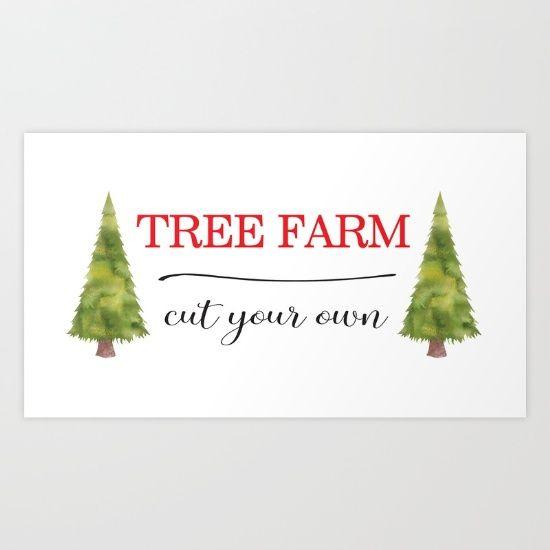 Tree Farm by McGovern Studio Holiday Art Print