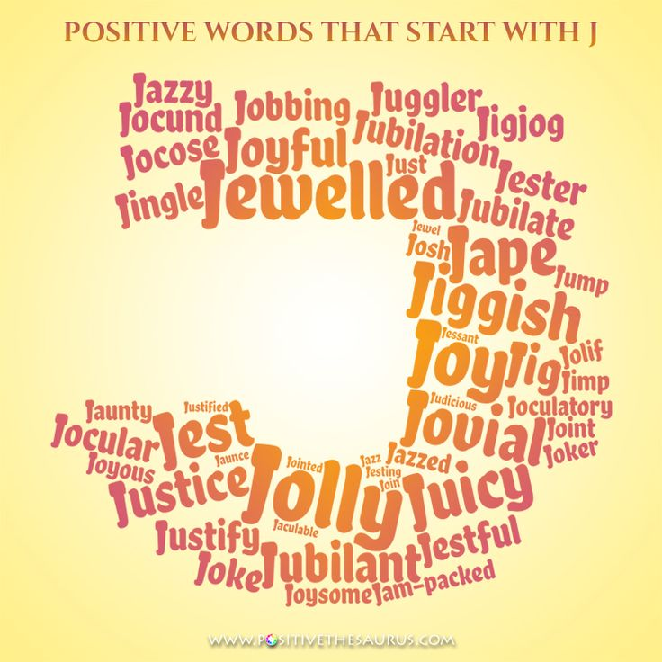 Positive adjectives that start with J Positive