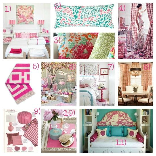 Aqua And Pink Bedroom Ideas: 32 Best Mood Boards Images On Pinterest