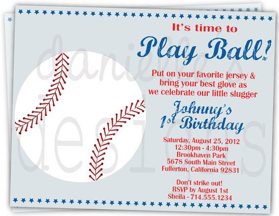 43 best birthday boy images on pinterest | baseball party, Birthday invitations