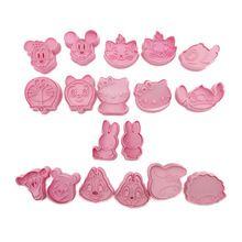 Various 3D Cartoon Shape Cookie Fondant Cake Sugarcraft Chocolate Decorating Plunger Cutter Mold 2Pcs/set (9 set for choosing)(China (Mainland))