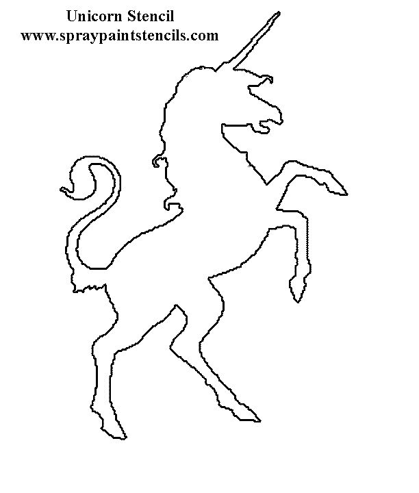 unicorn stencil could be printed  u0026 used for a craft         watercolor