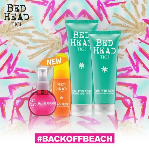 @tigicreatives BedHead Totally Beachin - Life's a Beach!