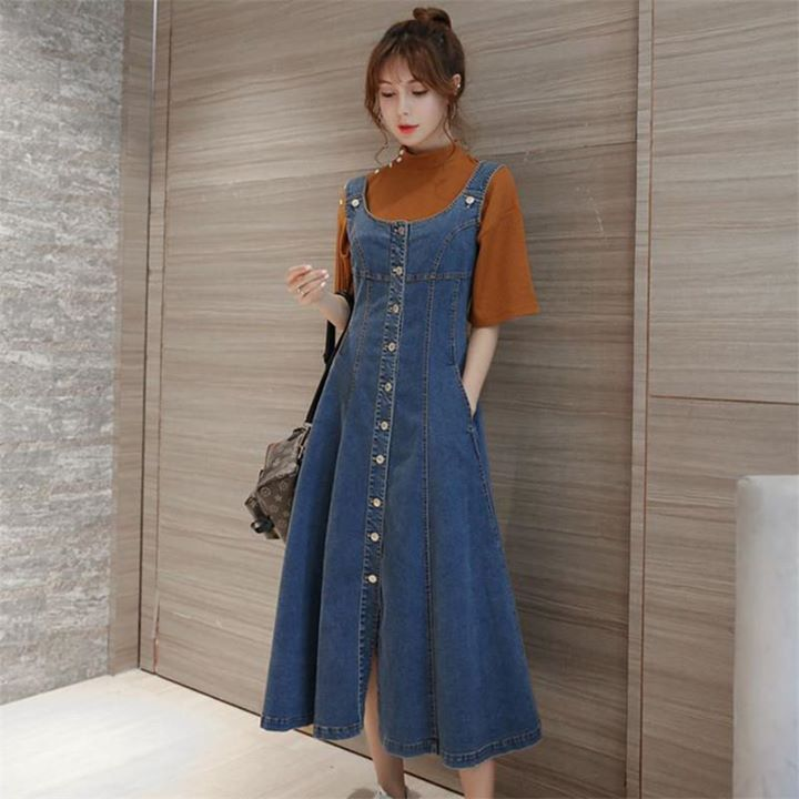 forefront of the times promo codes fashion style Street Casual Plus Size Women Denim Jumper Dress Shop at www ...