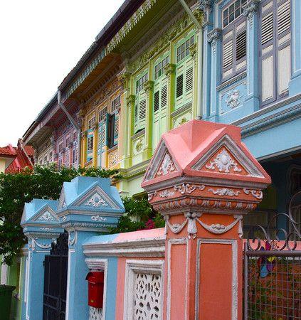 Singapore, Katong Pastel color's houses