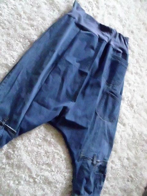 jeans patwork coll haremshose rockabilly biker lagenlook boheme upcycling 46-50