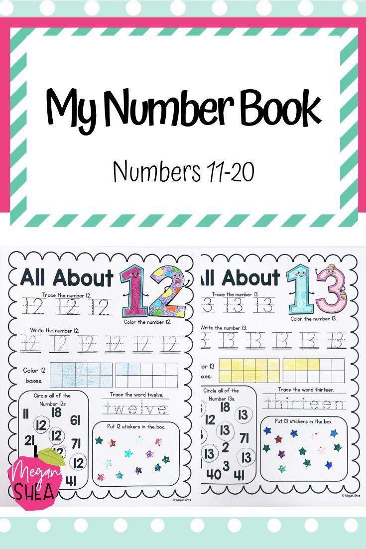 My Number Book Numbers 11 20 Kindergarten Math Kindergarten Math Curriculum Numbers Kindergarten Kindergarten Math [ 1102 x 735 Pixel ]