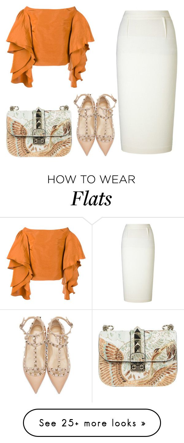 """""""Untitled #1037"""" by rosechicgeorgia on Polyvore featuring Valentino, Rosie Assoulin and Roland Mouret"""