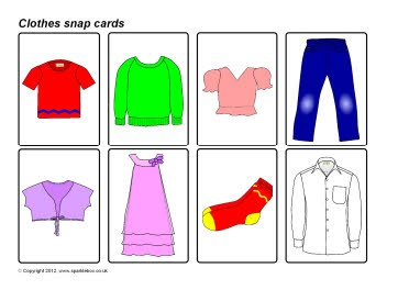 Clothes snap cards (SB7878) - SparkleBox