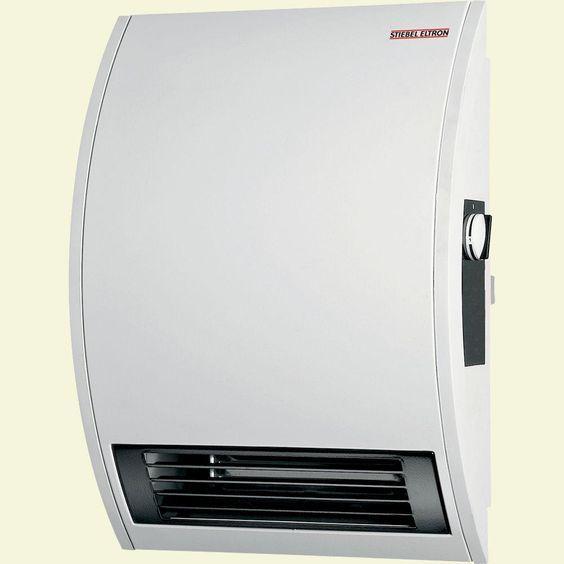 CK 20E Wall-Mounted Electric Fan Heater, Alpine White