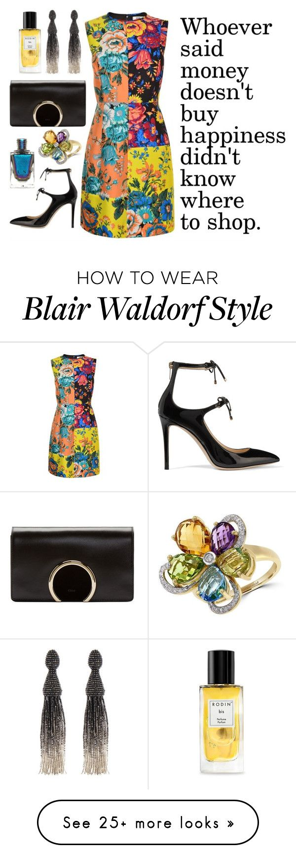 """Blair Waldorf's wisdom"" by theodor44444 on Polyvore featuring Diane Von Furstenberg, Jimmy Choo, Chloé, Oscar de la Renta, Rodin and Effy Jewelry"