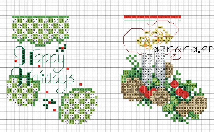 Little stockings- pattern 1 of 2 (no color chart but be creative)
