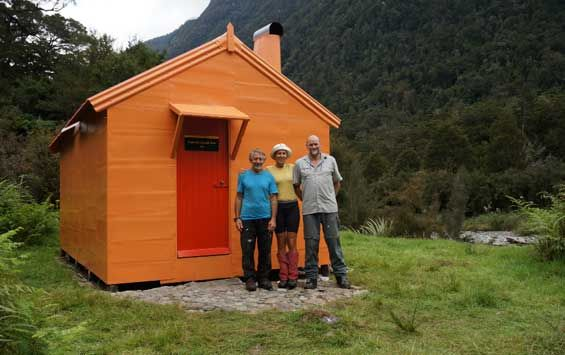 Tunnel Creek Hut on the West Coast gets a refresh, with assistance from the Recreation Consortium, and thanks to some passionate outdoor enthusiasts. Photo: Hugh Van Noorden #nzhuts