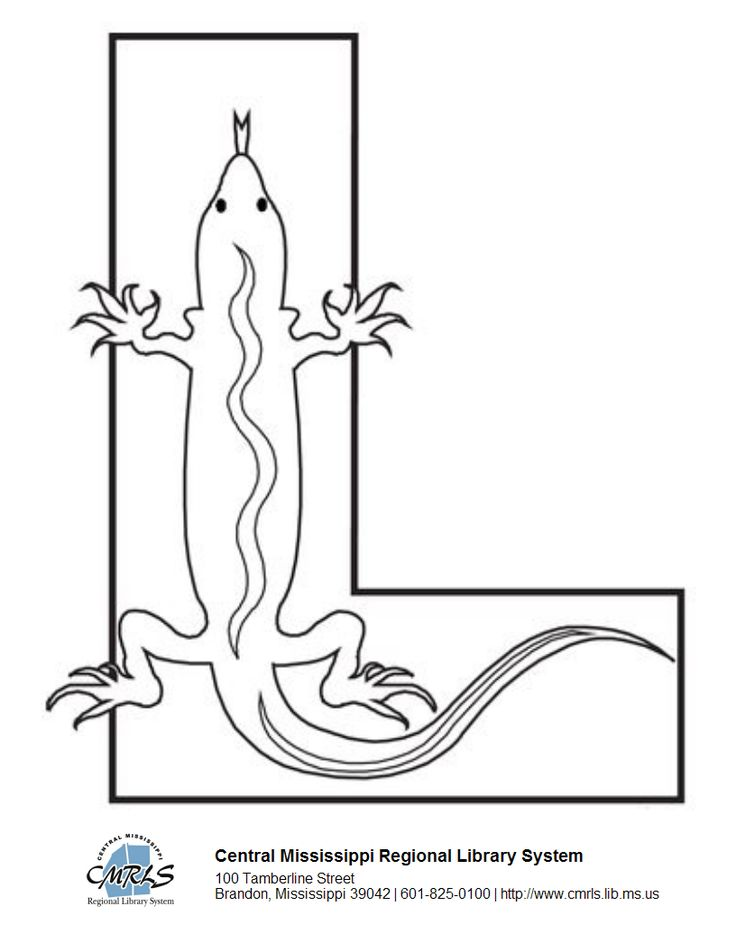 L is for Library...and LibraryAware (and lizard, too)! What a fun idea for your next story time--coloring sheets made in LibraryAware!