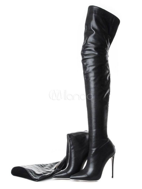 Black Over Knee Boots High Heel Boots