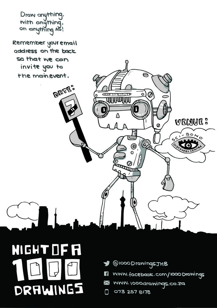 Night of A 1000 Drawings #flyer