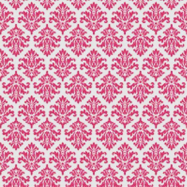 Pink Baroque Cross Stitch Pattern