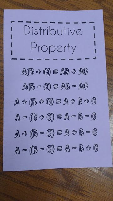 Math = Love: Combining Like Terms and the Distributive Property Interactive Notebook Pages