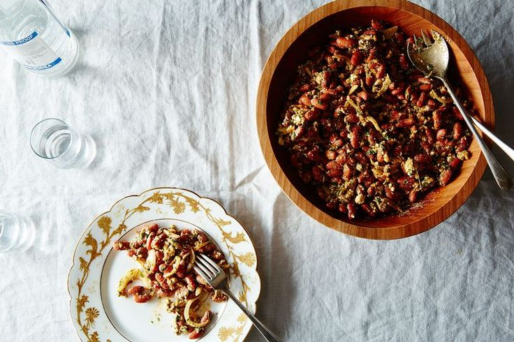 Lobios Salad (Spiced Kidney Beans with Herbs and Feta) recipe on Food52