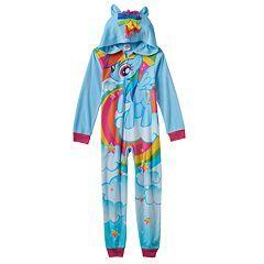 Girls 4-12 My Little Pony Rainbow Dash One-Piece Pajamas