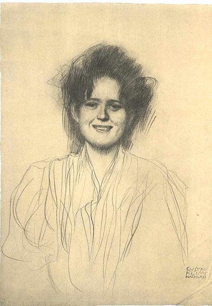 Klimt - Portrait of a Laughing Girl