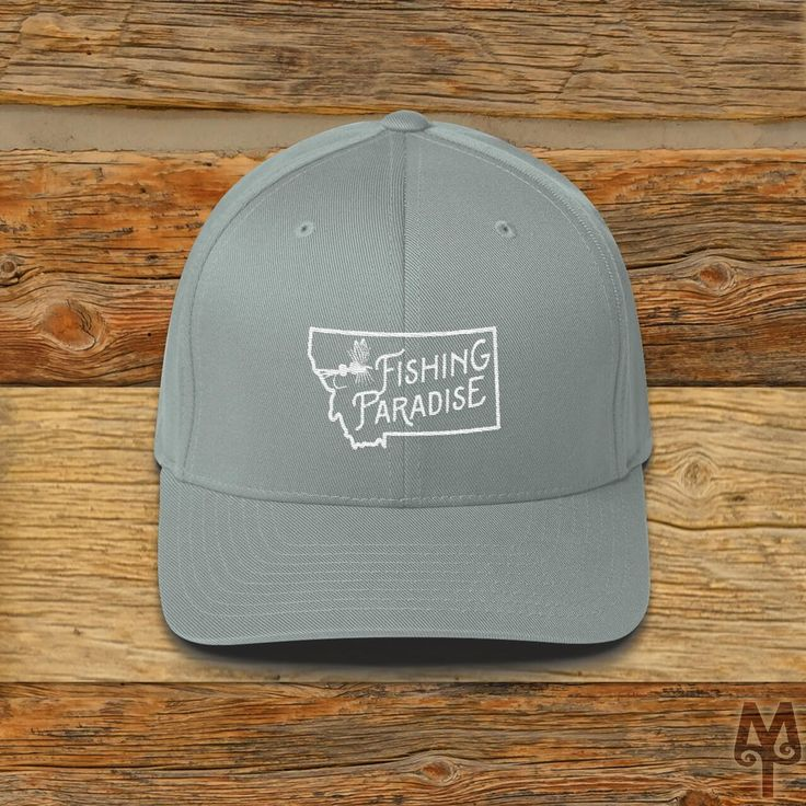 Montana Fishing Paradise, Fly Fishing Ball Cap