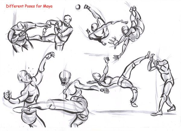 Drawing Sword Fighting Poses | www.pixshark.com - Images ...
