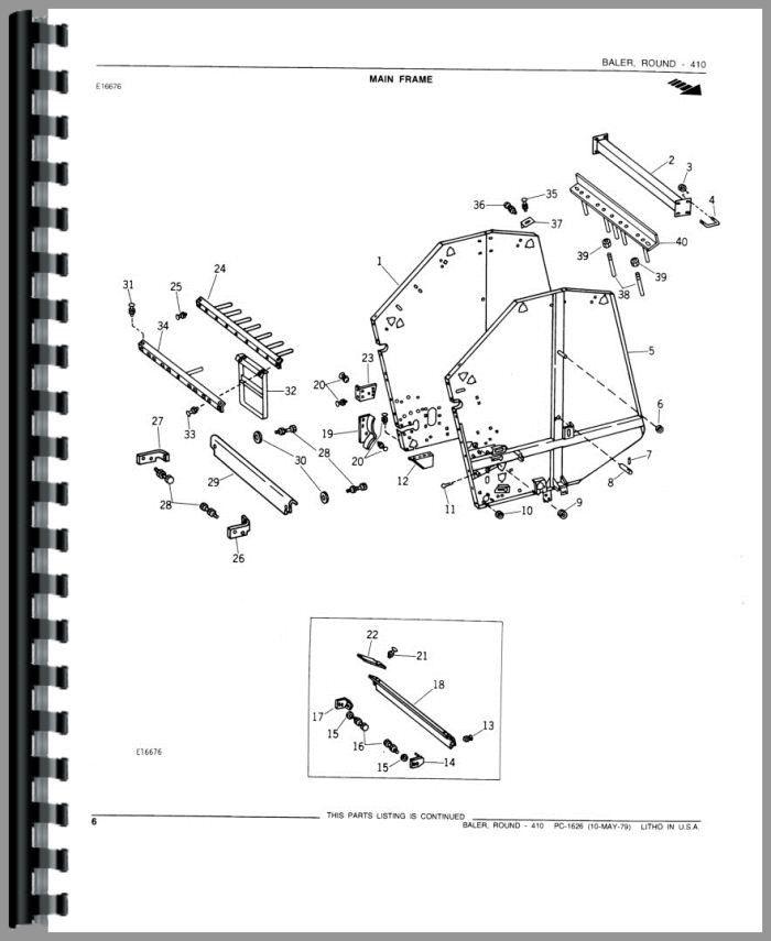 John Deere 410 Round Baler Parts Manual Products – John Deere 410c Wiring Diagrams