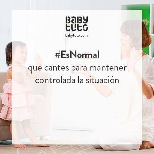Es normal cantar para controlar la situación con los más pequeños.