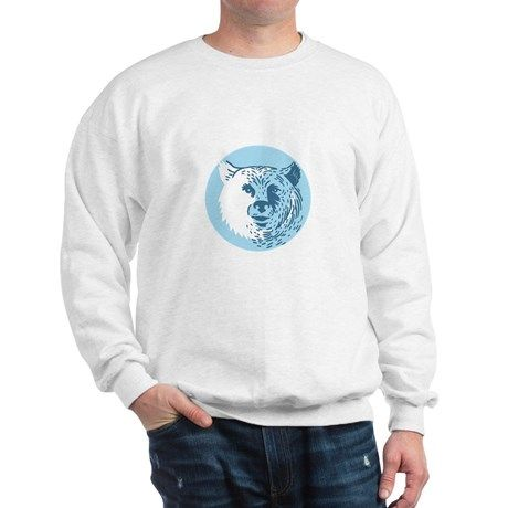 Bear Head Smiling Circle Drawing Sweatshirt