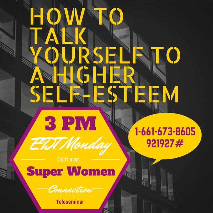 Ladies do you talk to yourself?   Of course we all do! All the time. Let's masterfully use this Monday Meditation time to focus on creating a higher self-esteem for ourselves.   Join Alecia Stringer on today's Super Women Connection Daily Teleseminar, she will be guiding you to create a new routine when talking to yourself!   I am excited for the call!!