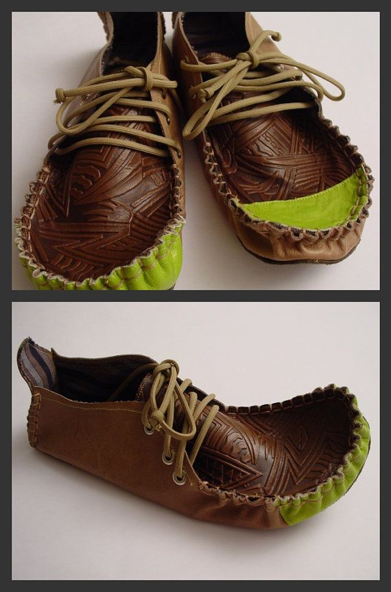 23 TRIBES  custom made  leather moccasins by 23Tribes on Etsy, $230.00